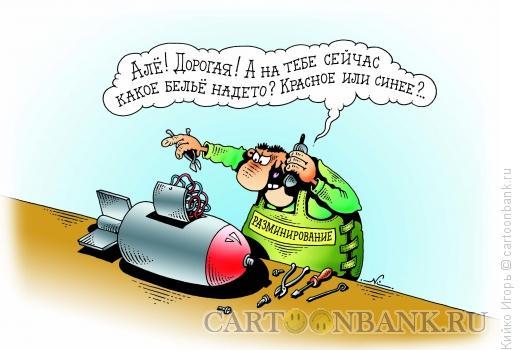 Карикатура: Разминирование, Кийко Игорь