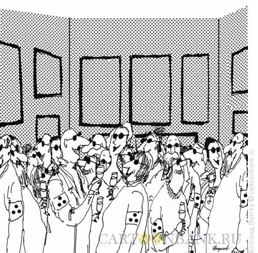 Карикатура: Вернисаж для слепых, Богорад Виктор