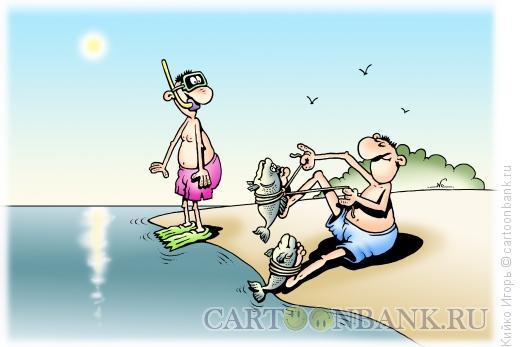Карикатура: Рыбы-ласты, Кийко Игорь
