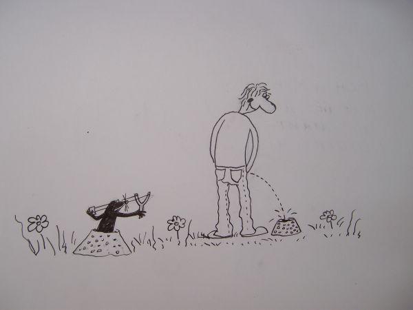 Карикатура: Как вывести крота с участка, Петров Александр