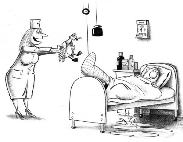 Карикатура: Утка, Сергей Корсун