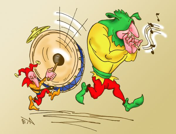 Карикатура: оркестр