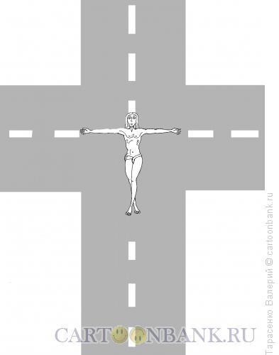 Карикатура: Перекресток, Тарасенко Валерий