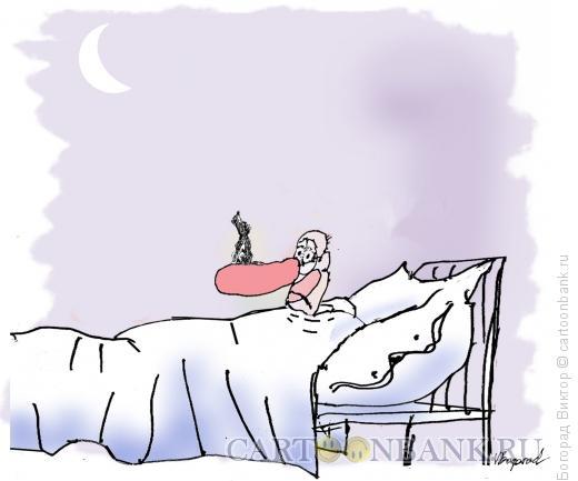 Карикатура: Бессоница клоуна, Богорад Виктор