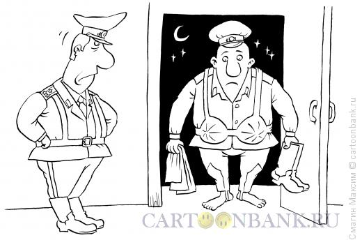 Карикатура: Из самоволки, Смагин Максим
