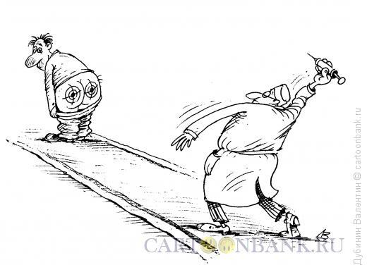 Карикатура: Тир, Дубинин Валентин