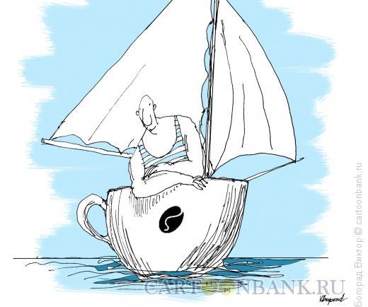 Карикатура: Утренняя морская прогулка, Богорад Виктор