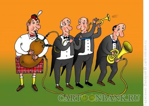 Карикатура: Духовой оркестр, Тарасенко Валерий