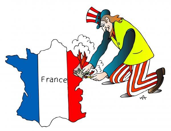 Карикатура: Франция и США, Alexei Talimonov