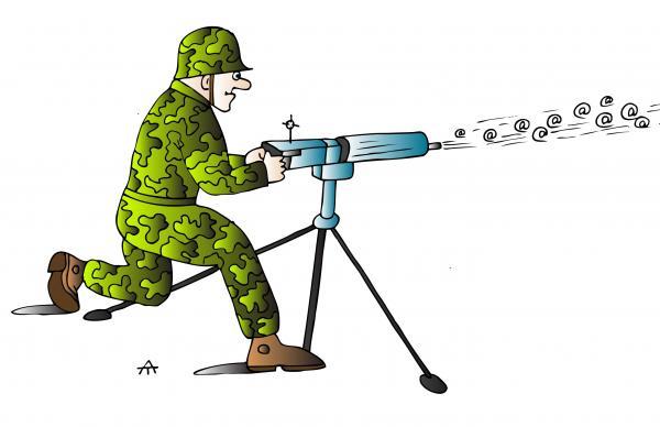 Карикатура: Солдат, Alexei Talimonov