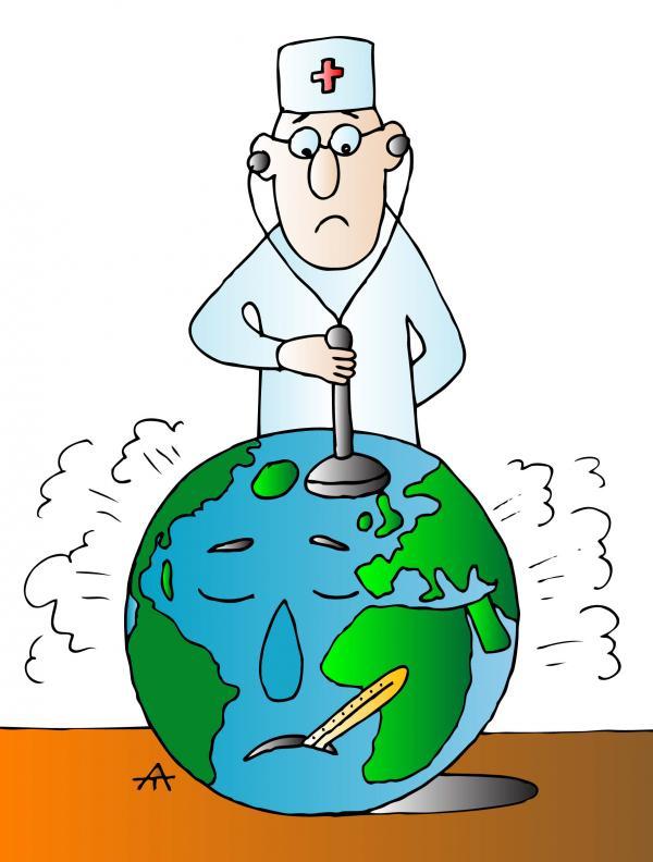 Карикатура: Земля и доктор, Alexei Talimonov