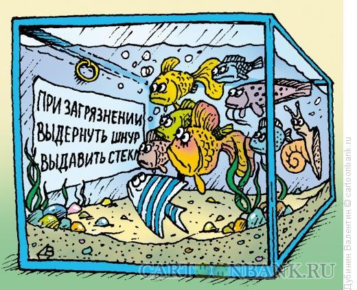 Карикатура: Аквариум, Дубинин Валентин