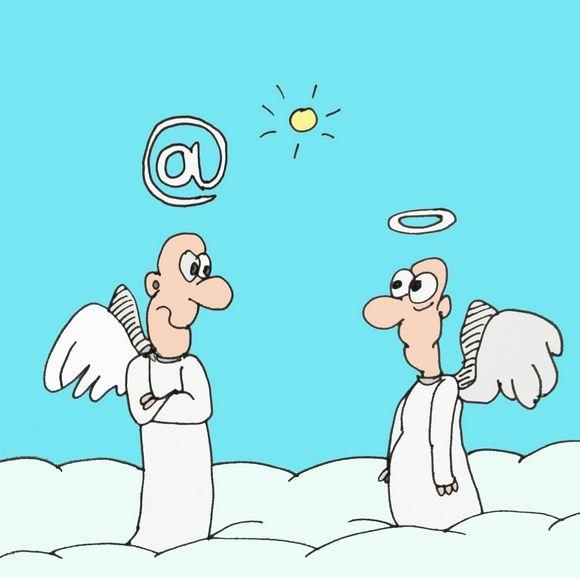Карикатура: Ангелы, Величко Юрий