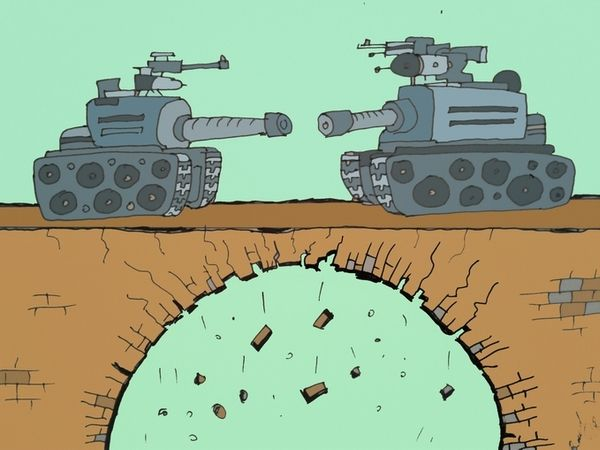 Карикатура: Два барана, Величко Юрий