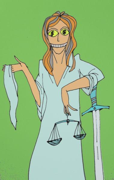 Карикатура: Глаза правосудия, Величко Юрий