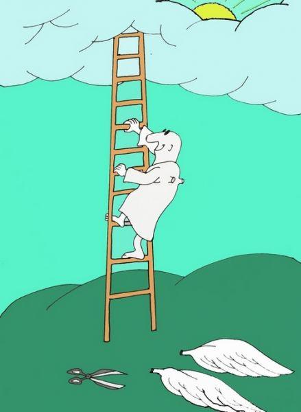 Карикатура: Лестница, Величко Юрий