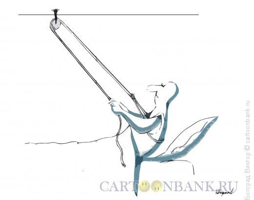 Карикатура: Самоподьём, Богорад Виктор