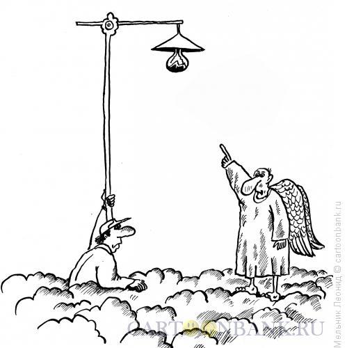 Карикатура: Небесный ремонт, Мельник Леонид