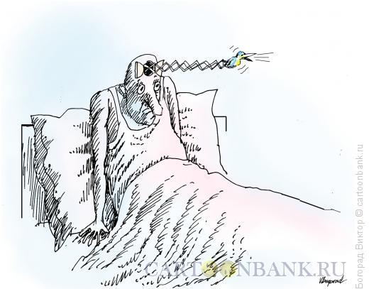 Карикатура: Сам себе будильник, Богорад Виктор