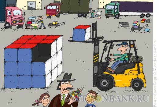 Карикатура: Кубик Рубика, Белозёров Сергей
