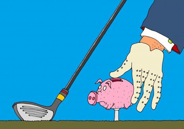 Карикатура: гольф, михаил ларичев