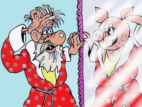 Карикатура: Утро, Величко Юрий