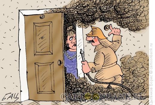 Карикатура: Цепочка, Цыганков Борис