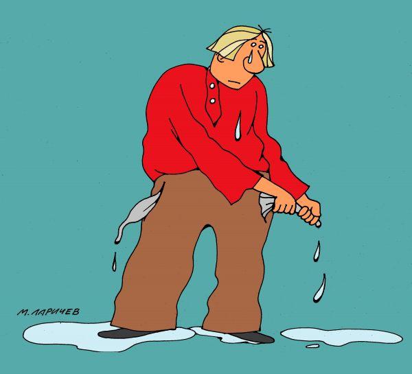 Карикатура: слезы, михаил ларичев