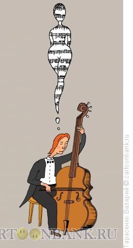 Карикатура: Красивая мелодия, Тарасенко Валерий