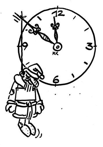 Карикатура: Дед Мороз повесился, Вячеслав Капрельянц