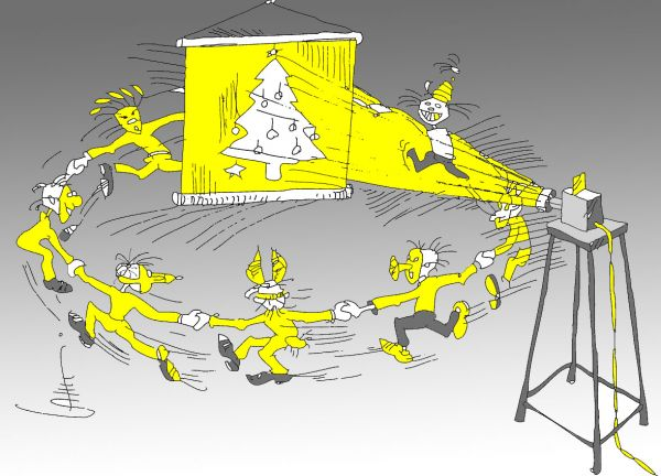 Карикатура: В лесу НЕ родилась елочка, Юрий Санников