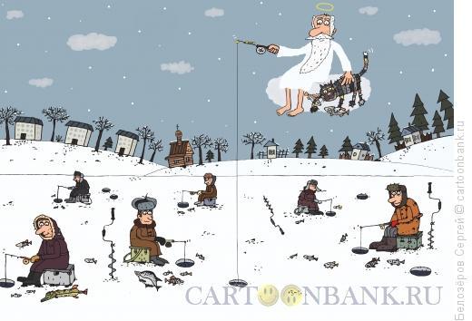 Карикатура: Зима, Белозёров Сергей