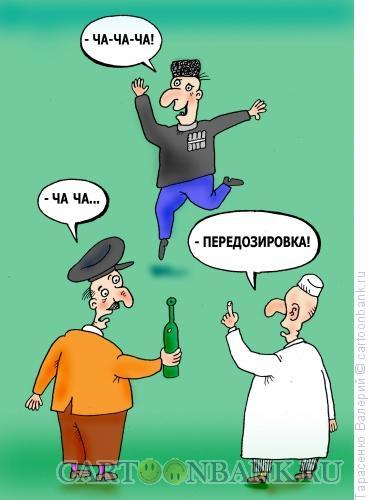 Карикатура: Грузинский самогон, Тарасенко Валерий