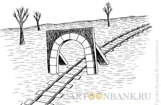 Карикатура: щит-тоннель, Гурский Аркадий