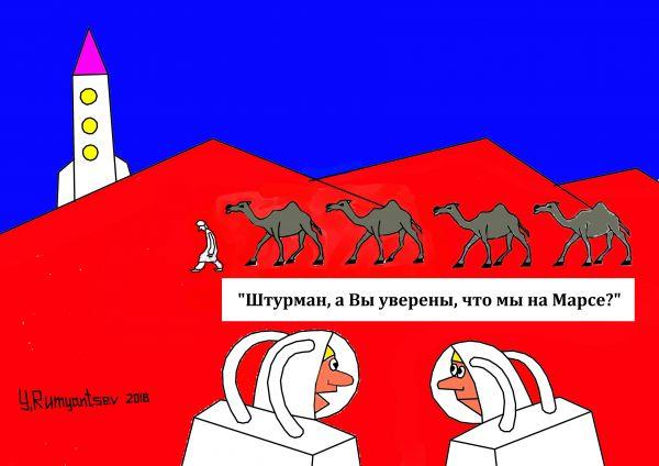 Карикатура: Перепутали., Юрий Румянцев