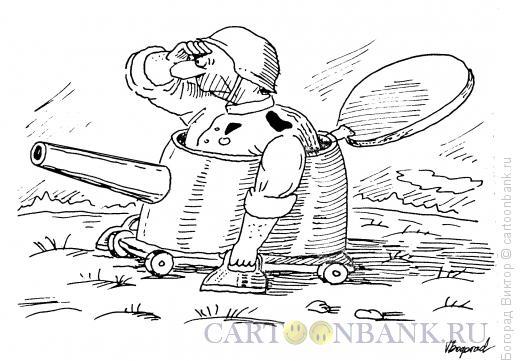 Карикатура: Танкист-инвалид, Богорад Виктор