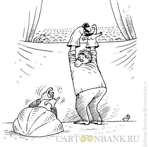 Карикатура: Кукольный суфлёр, Дубинин Валентин