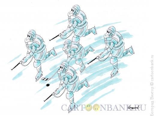 Карикатура: В�П -хоккеист, Богорад Виктор