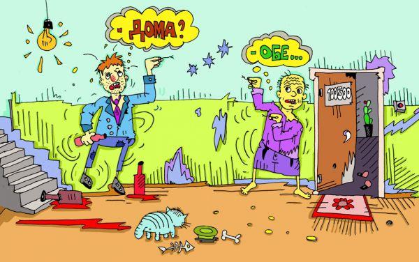 Карикатура: язык жестов понятен каждому, leon2008