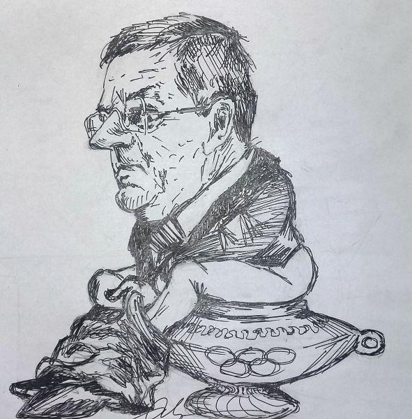 Карикатура: �стинное лицо МОК, Герман