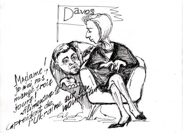 Карикатура: Запорожцы в Давосе, Герман