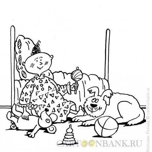 Карикатура: Ребенок, Мельник Леонид