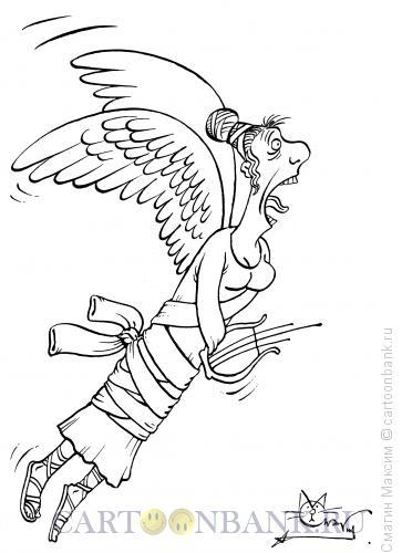 Карикатура: Сумасшедшая муза, Смагин Максим