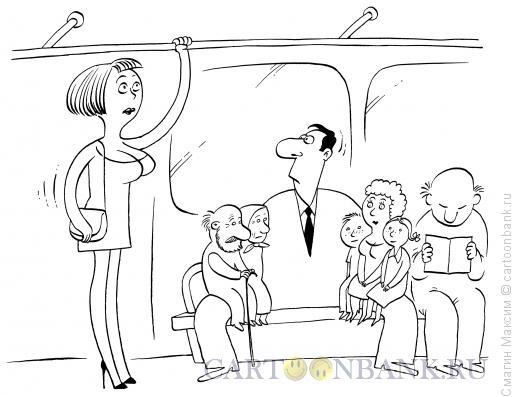 Карикатура: Джентльмен, Смагин Максим