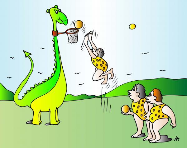 Карикатура: Баскетбол, Алексей Талимонов
