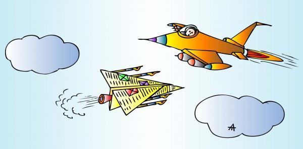 Карикатура: Самолет, Алексей Талимонов