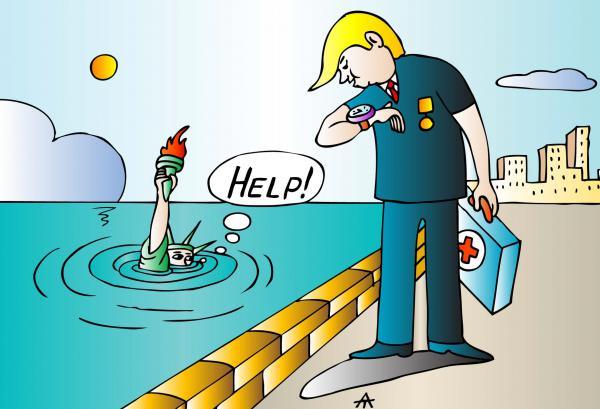 Карикатура: Трамп и свобода, Алексей Талимонов