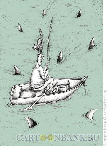 Карикатура: Акулы, Анчуков Иван