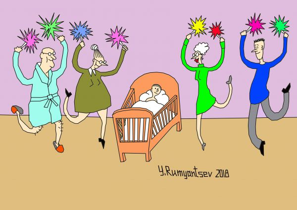 Карикатура: Черлидинг., Юрий Румянцев