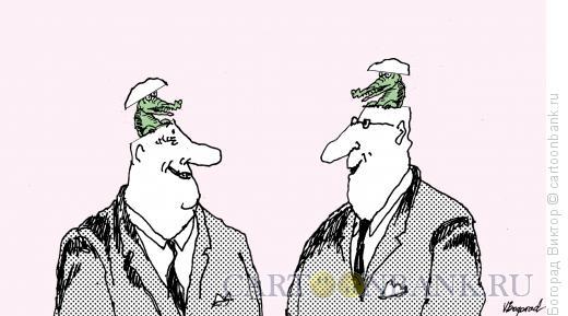 Карикатура: Крокодилы, Богорад Виктор